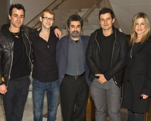 Justin Theroux, Jason Baldwin, Joe Berlinger, Orlando Bloom, Jennifer Aniston